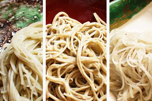 そばは長野市の【懐食あおき】で風味や喉越しの異なる3種類を食べ比べしませんか?